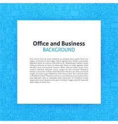 Paper over office business line art background vector