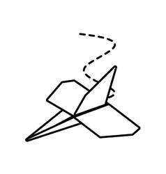 Paper plane business symbol start outline vector