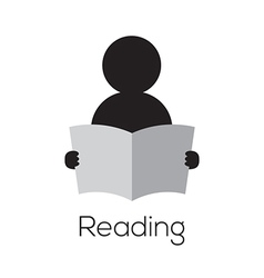 Reading icon vector