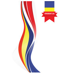 Romanian abstract flag background vector