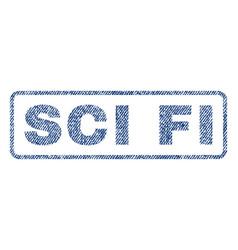 Sci fi textile stamp vector