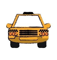 Taxi cab car public transport sketch vector