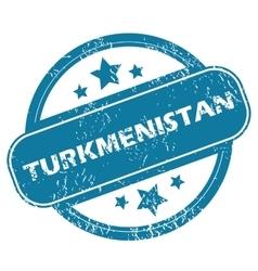 TURKMENISTAN round stamp vector image