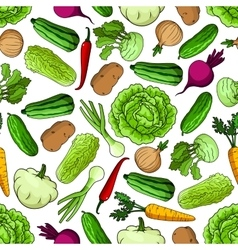 Vegetables seamless pattern for farming design vector image vector image