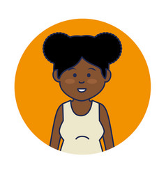 young african woman avatar character vector image