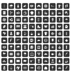 100 coffee cup icons set black vector