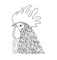 Rooster in graphical style vector