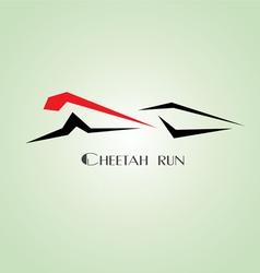 Cheetah run vector image