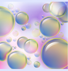 Abstract colorful bubbles rising on soft vector