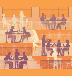 Terraced dining vector