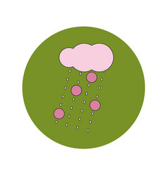In flat design of cloud and vector