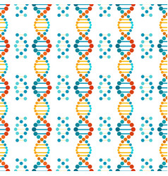 colorful dna spiral seamless pattern vector image
