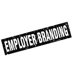 Square grunge black employer branding stamp vector