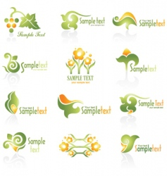 set of logo vector image