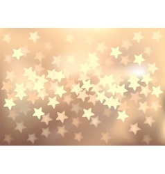 Pastel festive lights in star shape background vector image