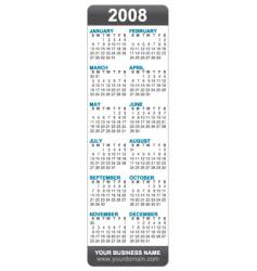 2008 calendar bookmark vector