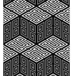 3d zig zag cubes op art seamless pattern vector
