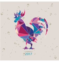The 2017 new year card with Rooster vector image