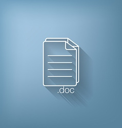Document icon paper sheet vector