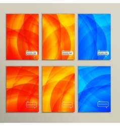 Set six abstract pictures of bright color vector