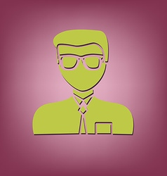 A male avatar picture a man manager or an office vector