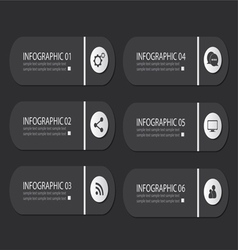 Infographic buttons vector