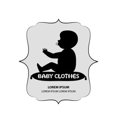 Signboard or logo of baby clothes vector