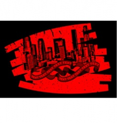 Red black grunge graffiti banner vector