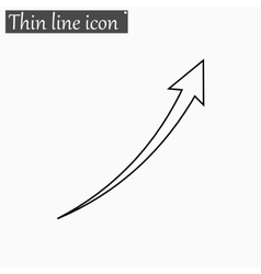 Arrow Infographic chart icon Style thin vector image