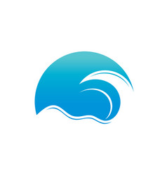 abstract wave logo vector image