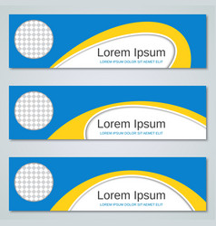 Abstract yellow-blue banners templates vector
