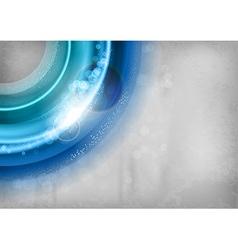 background blue light corner round with stars vector image