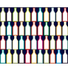 Background with bottle vector image