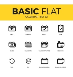 Basic set of calendar icons vector