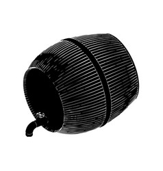 black barrel on white background vector image vector image