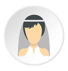 bride icon circle vector image vector image