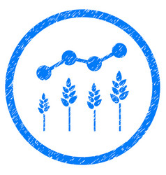 Crop analytics rounded grainy icon vector