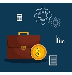 finance economy design vector image