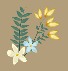 Flowers decoration bunch image vector