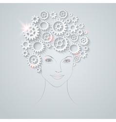 gears girl vector image vector image