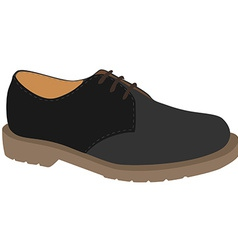 Grey shoe vector image vector image