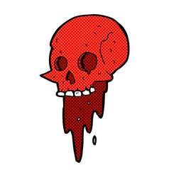 gross halloween skull comic cartoon vector image