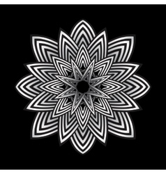 Optical art abstract striped flower vector