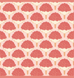 pink wedding seamless pattern with bouquet vector image vector image