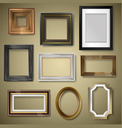 retro vintage art photo picture frames vector image vector image