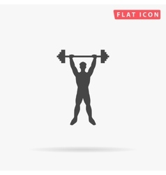 Strongman simple flat icon vector