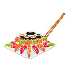 Sushi dish vector