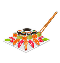 sushi dish vector image