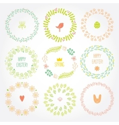 Versatile wreaths spring ornament for decorating vector