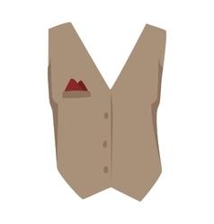Vest waistcoat vector image vector image